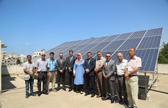 """فلسطين   جوال و""""عطاء فلسطين"""" يفتتحان مشروع تزويد جمعية بنك الدم بالطاقة الشمسية"""