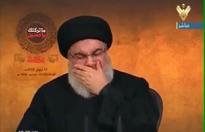 فلسطين | حسن نصر الله ينفجر بالبكاء (شاهد)