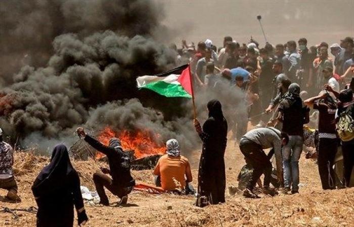 """فلسطين   غزة : استعدادات لـ """"جمعة المقاومة خيارنا"""" ضمن مسيرات العودة"""