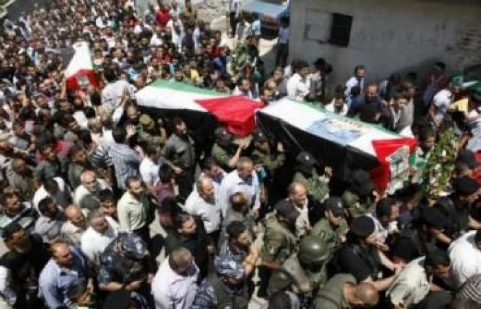 فلسطين   تشييع جثامين 3 شهداء في غزة