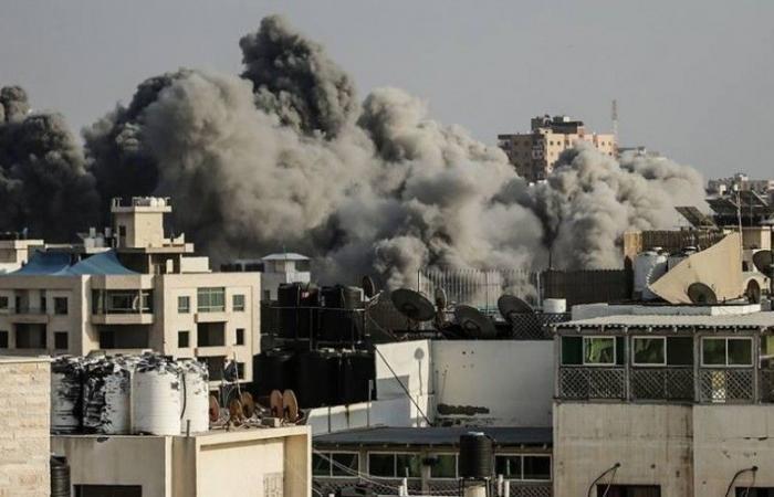 فلسطين   استهداف مرصد للمقاومة في مخيم ملكة شرق مدينة غزة