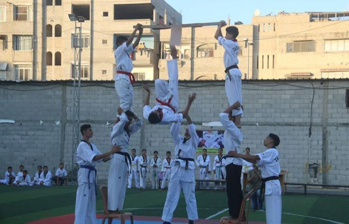 """فلسطين   نادي الأمل الرياضي ينظم مهرجان """"أنت البطل """" للألعاب الفردية"""