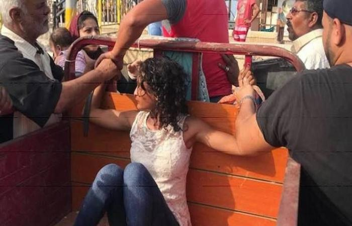 فلسطين | صور لفتاة مصرية مكبلة تهز وسائل التواصل الاجتماعي (صور)