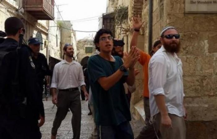 فلسطين | مستوطنون يؤدون رقصات استفزازية قرب أبواب الأقصى
