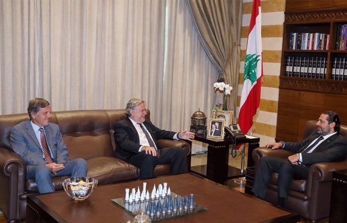 الحريري بحث مع وزير يوناني سبل تعزيز التعاون