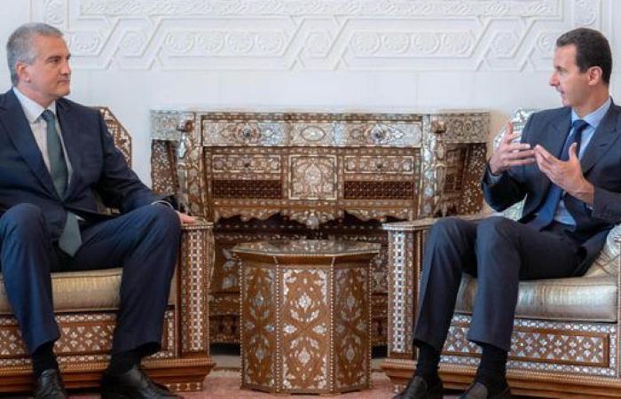 """سوريا   بشار الأسد يستقبل رئيس ما تسميها روسيا """" جمهورية القرم """""""