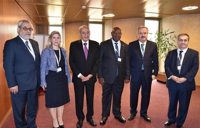 بري بحث مع رئيس الاتحاد البرلماني الأفريقي تعزيز التعاون