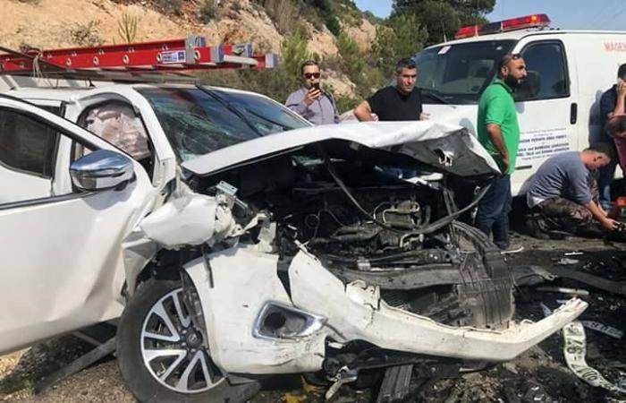فلسطين   اصابات بحادث سير بين 4 مركبات بنابلس