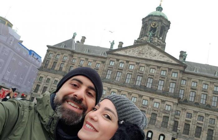 هشام حداد وزوجته في هولندا.. لهذا السبب! (صورة)