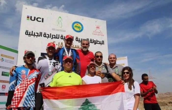 ذهبية تاريخية للبنان في بطولة العرب للدراجات