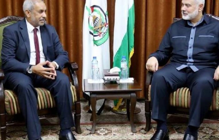 فلسطين   هنية يستقبل سفير دولة جنوب أفريقيا