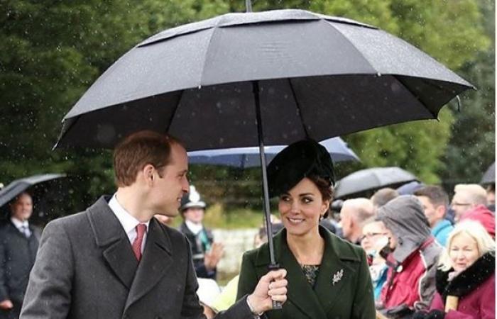 بعد ميغان وهاري.. رومانسيّة تحت المظلّة بين ويليام وكيت