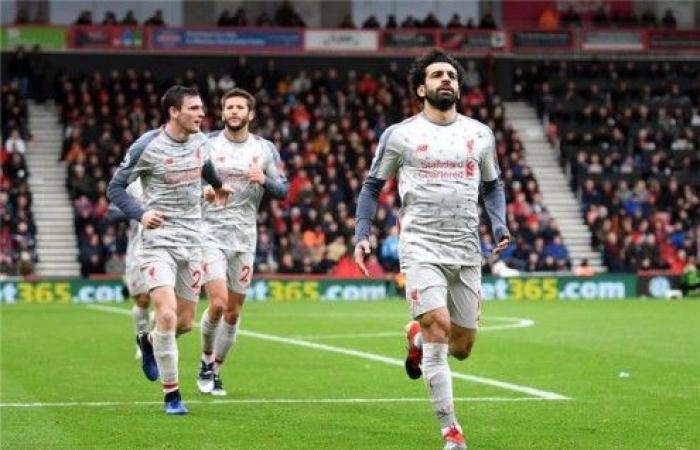 """""""هاتريك"""" صلاح يقود ليفربول للفوز على بورنموث في الدوري الإنكليزي"""