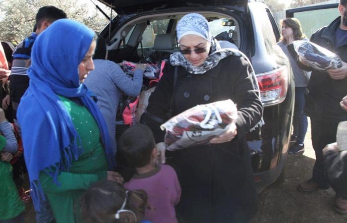 مساعدات لـ250 عائلة سورية في مخيمات طرابلس