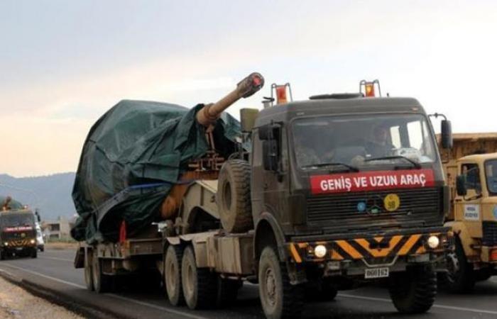سوريا | قطار عسكري تركي يعزز القوات المنتشرة على الحدود مع سوريا