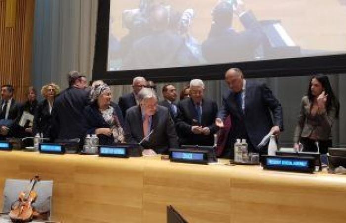"""فلسطين   ننشر بيان """"الخارجية"""" خلال اجتماع مراسم تسليم مجموعة الـ77 والصين إلى فلسطين"""