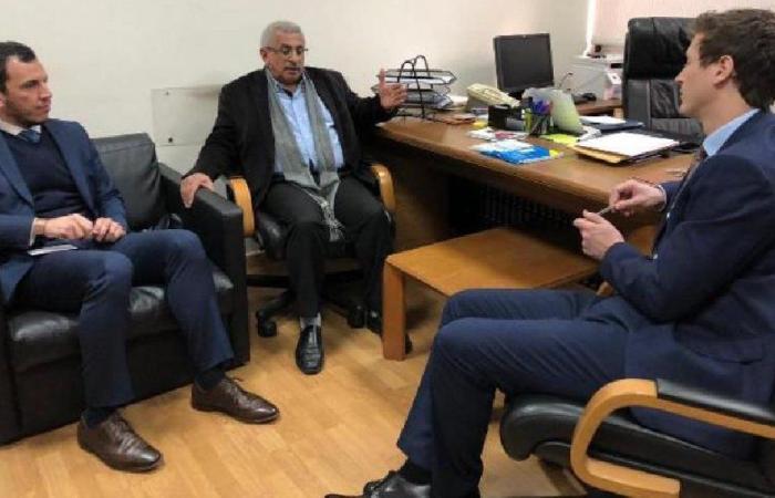 سعد عرض ووفد من السفارة البريطانية الأوضاع السياسية