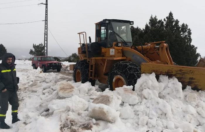 الثلوج تخطي المرتفعات في عكار.. والدفاع المدني يسهّل المرور