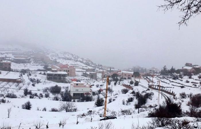 العاصفة في راشيا والبقاع الغربي: ثلوج تكتسح المشهد