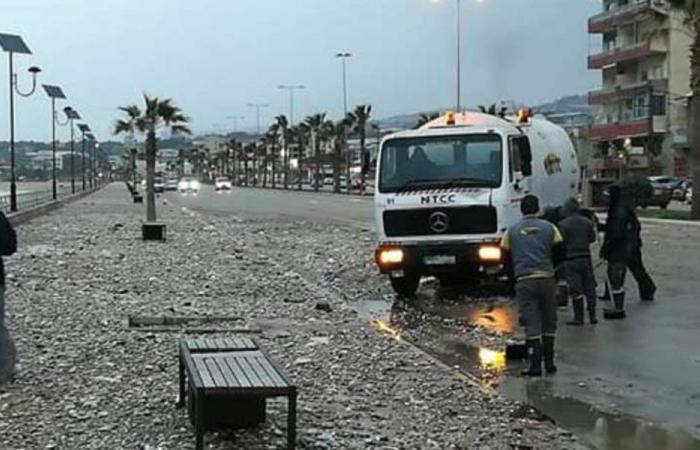 توقف حركة الملاحة في ميناء صيدا