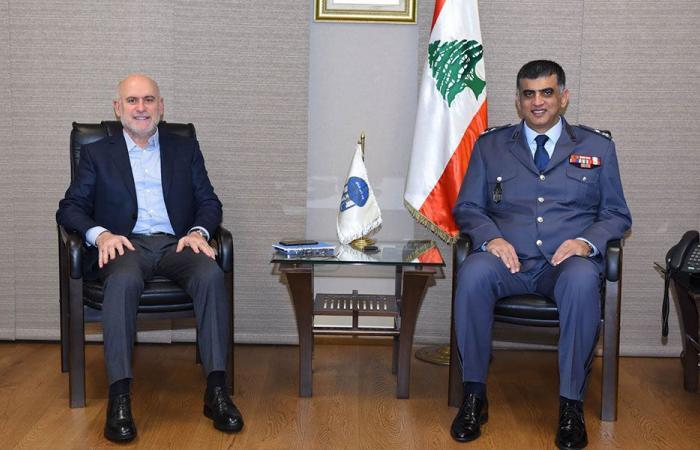 عثمان التقى وزير الأشغال ورئيس الصليب الأحمر وأمينه العام