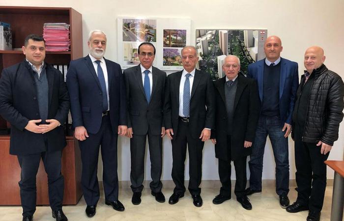 طالوزيان بحث مع نائب رئيس بلدية بيروت مشاريع إنمائية