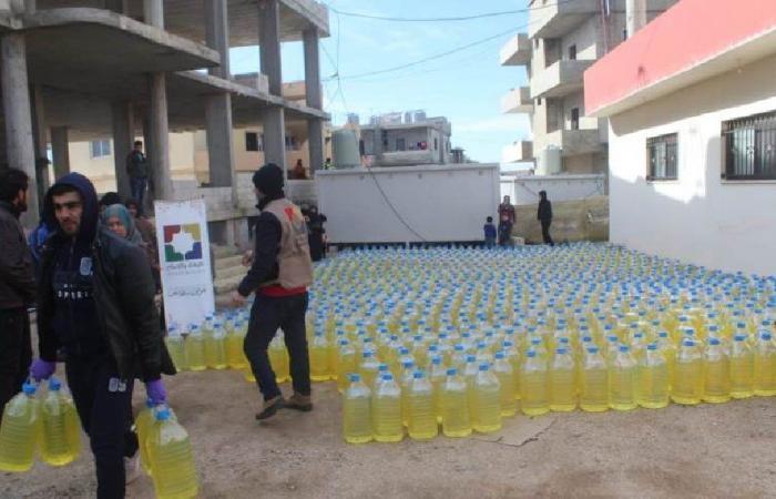توزيع مازوت على عائلات نازحة في عكار