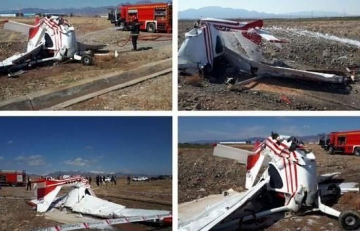 إيران | سقوط طائرة تدريب إيرانية ومقتل الطيار والمتدرب