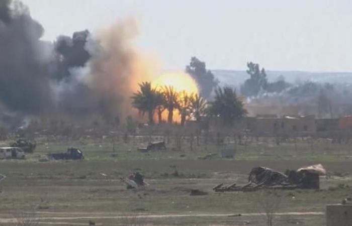 سوريا   7 غارات للتحالف الدولي على مواقع داعش في الباغوز