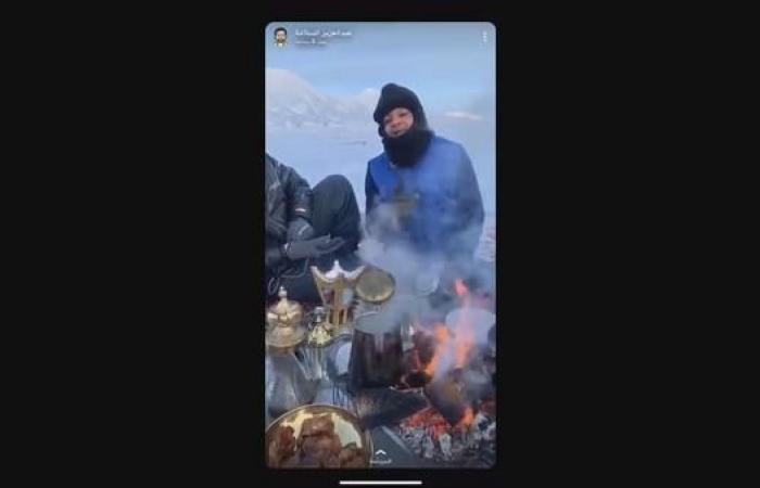 """الخليح   شاهد.. سعوديون في """"كشته"""" بالقطب المتجمد"""