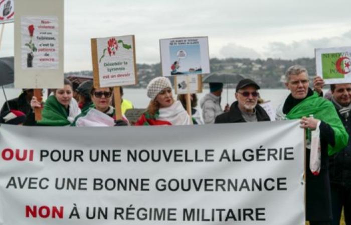 مظاهرات لجزائريين بجنيف ضد العهدة الخامسة لبوتفليقة