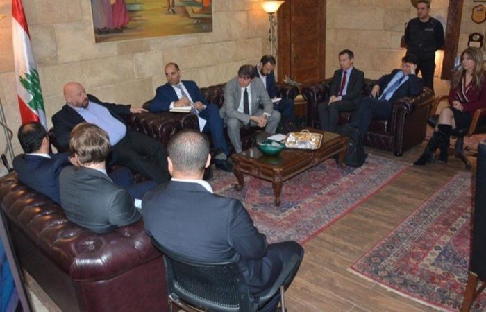 نهرا بحث مع وفد مصلحة سكة الحديد مشروع النقل المشترك في طرابلس