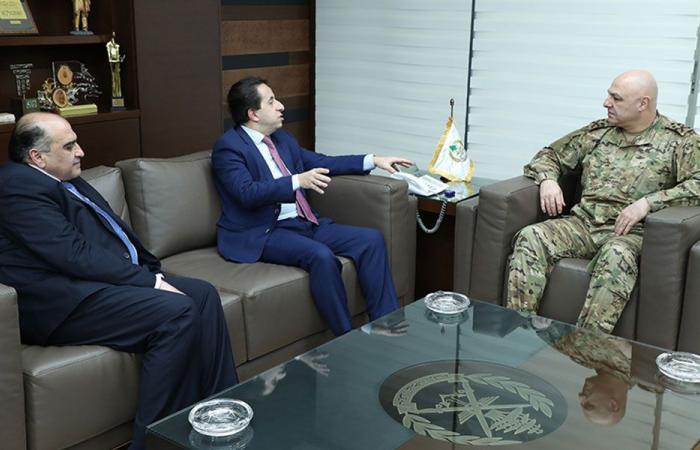 قائد الجيش التقى القاضي ماهر الزين ورئيس بلدية بيت مري
