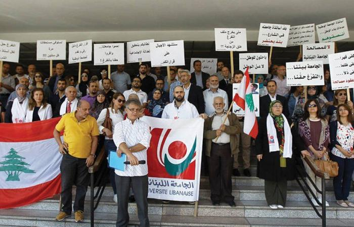 اضراب لأساتذة الجامعة اللبنانية… والطلاب يلازمون منازلهم