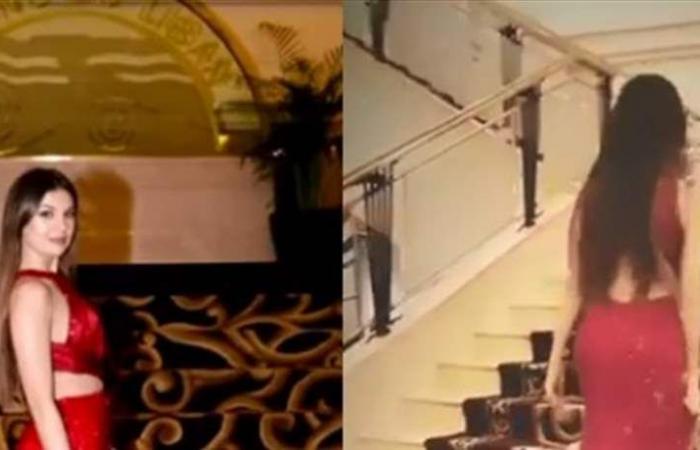 مايا رعيدي تثير الجدل بفستان أحمر 'فاضح' ومفتوح الصدر..شاهد! (فيديو وصور)