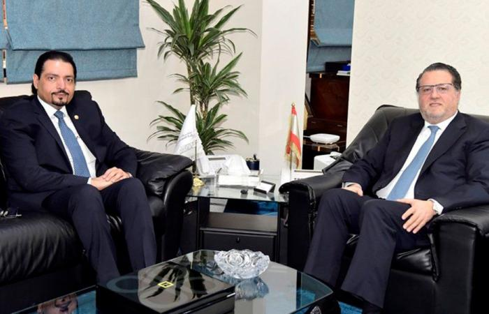 شقير بحث مع سفير قطر في تنمية العلاقات بين البلدين
