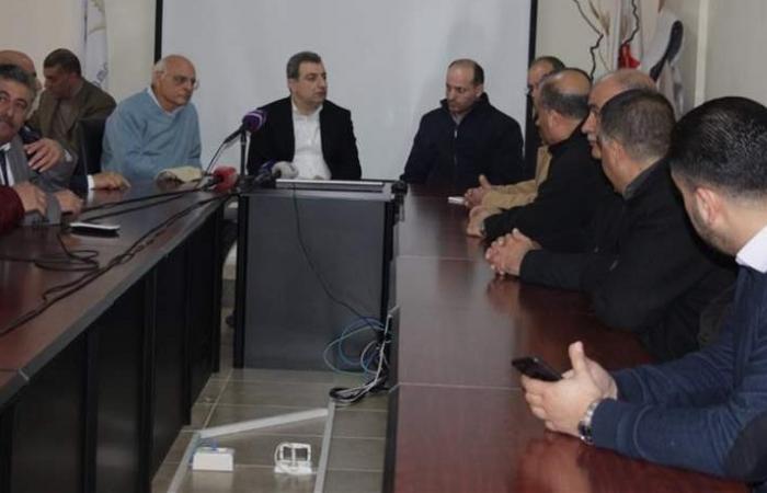 أبو فاعور التقى المعتصمين ضدّ إقامة مصنع الإسمنت في عين دارة