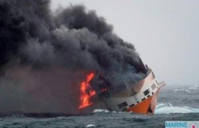 تمدد بقعة نفطية إلى الساحل الفرنسي بعد غرق سفينة شحن