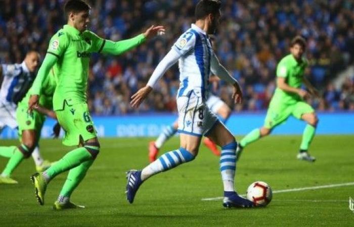 ريال سوسييداد يسقط في فخ التعادل أمام ليفانتي في الليغا
