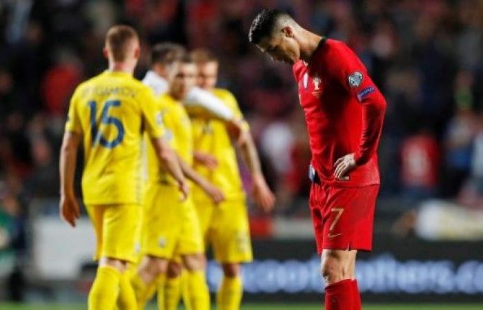 البرتغال تتعثر أمام أوكرانيابحضور رونالدو