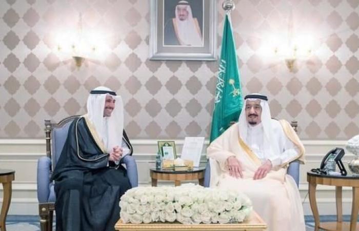 الخليح | الملك سلمان يستقبل رئيس مجلس الأمة الكويتي