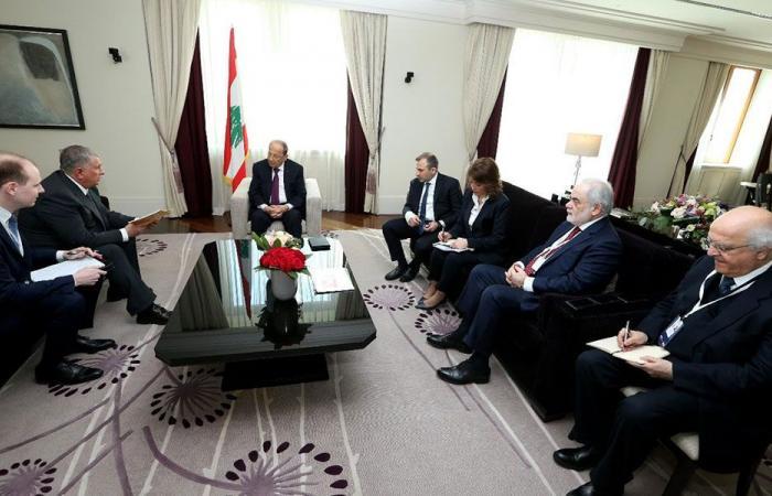 منشآت نفط طرابلس في لقاءات عون الروسية