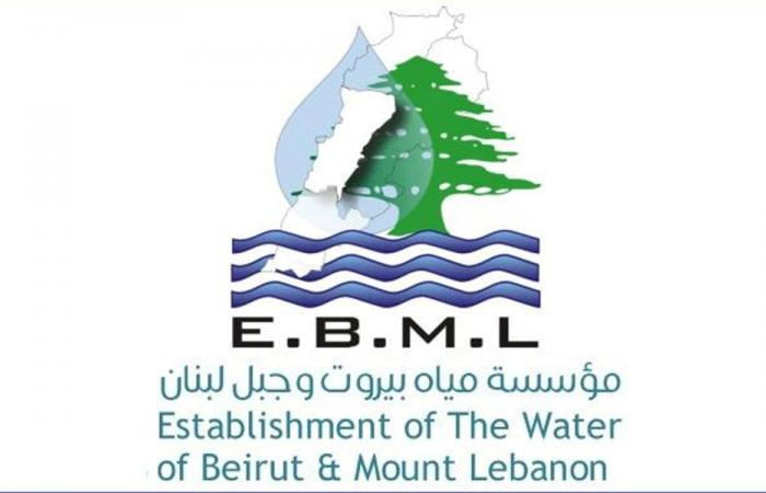 جداول إصدارات مياه بيروت وجبل لبنان 2019