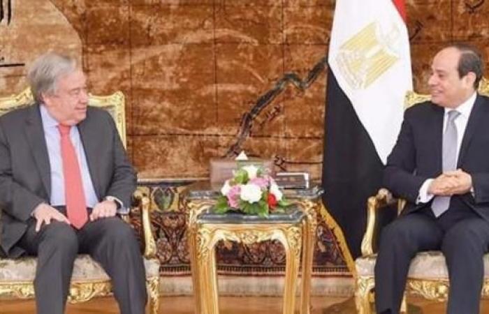 مصر   السيسي وغوتيريس يتفقان على مكافحة الإرهاب إلكترونياً