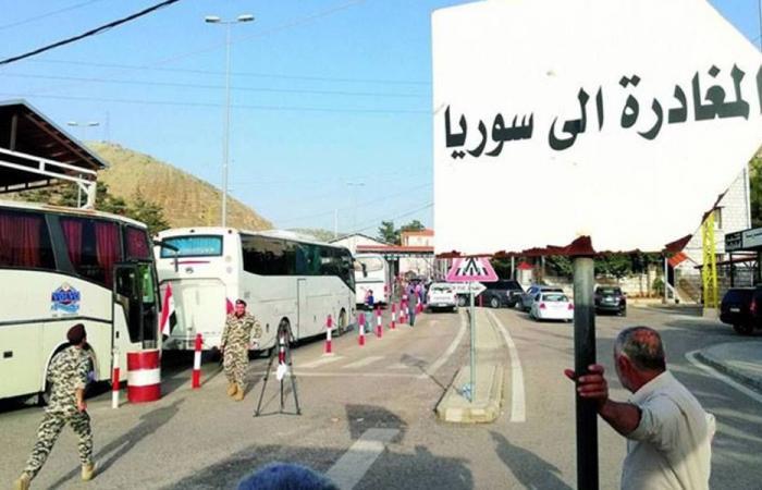 نازحون سوريون غادروا صيدا باتجاه بلادهم