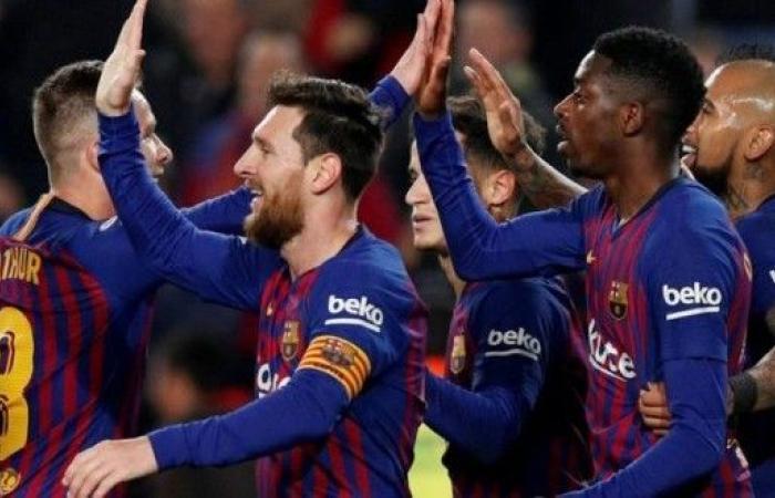 برشلونة يبلغ نصف نهائي الأبطال بثلاثية في مرمى اليونايتد