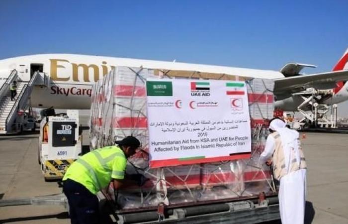 إيران | طائرة إغاثة تحمل مساعدات سعودية إماراتية تتجه لإيران