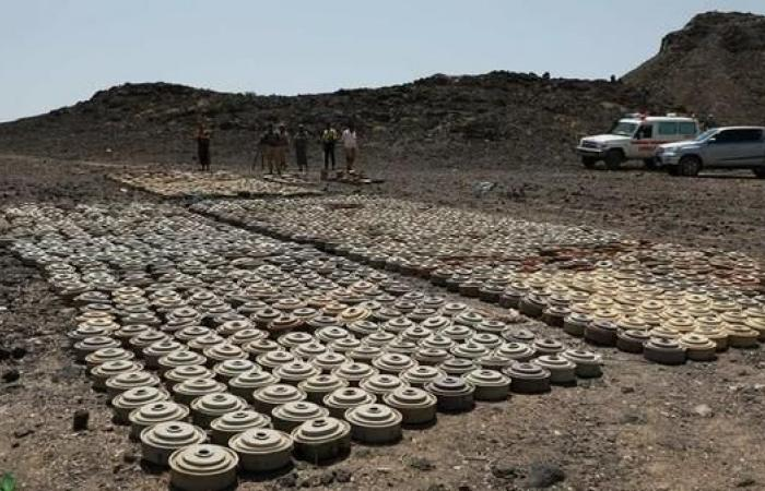 اليمن | شاهد.. إتلاف أكثر من 5000 لغم زرعها الحوثيين بالجوف