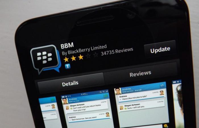 بلاك بيري توقف تطبيقها للتراسل BBM في 31 مايو