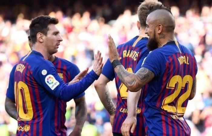 برشلونة يهزم خيتافي ويعقد آماله في التأهل لدوري الأبطال